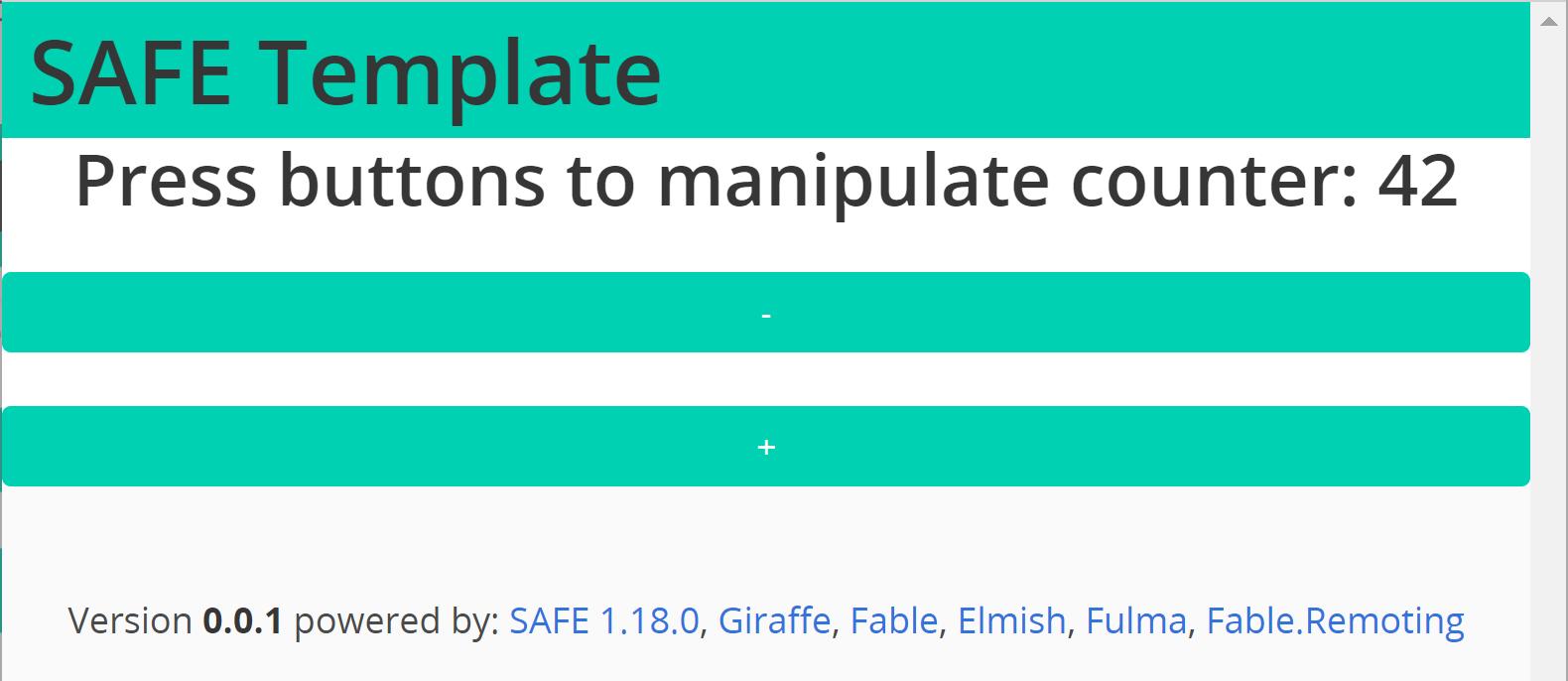 The default SAFE template